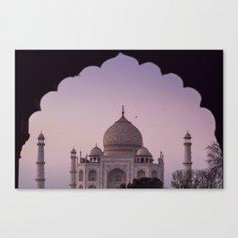 Taj Mahal twilight Canvas Print