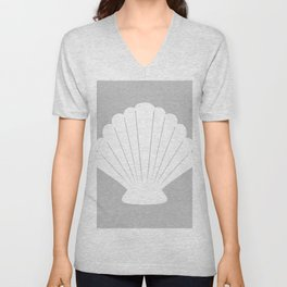 Seashell (White & Gray) Unisex V-Neck