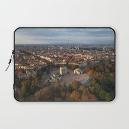 Aerial view of arch peace (Arco Della Pace) from Branca tower, Milan, Lombardy, Italy. Laptop Sleeve