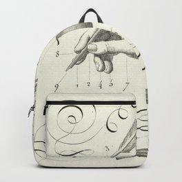 Calligraphy Hand Backpack