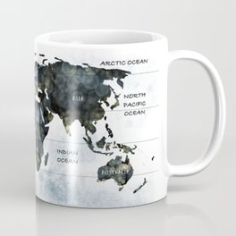 A WORLD MAP - CONTINENTS AND OCEANS Coffee Mug