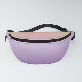 Mindfulness - purple and orange Fanny Pack