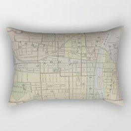 Vintage Map of Elmira New York (1896) Rectangular Pillow