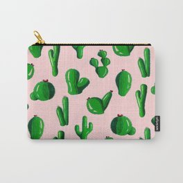 Pink Cactus Carry-All Pouch