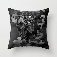 Deathly Bear Throw Pillow