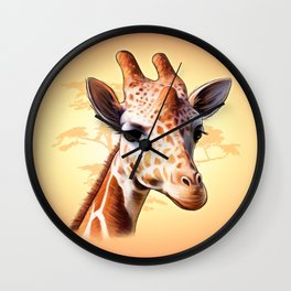 African Jiraff Wall Clock