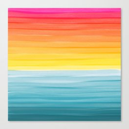 Sunset on the Ocean Minimalist Painting Canvas Print