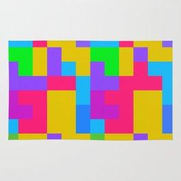 Colorful tetris shapes Rug