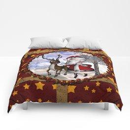 Santa Claus with reindeer Comforters