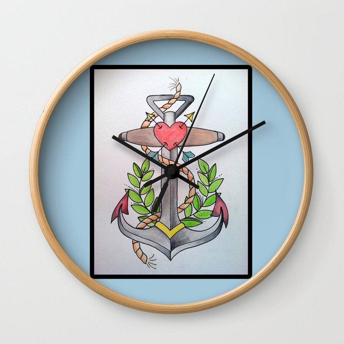 Traditional Anchor Wall Clock