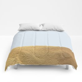 Color Blocked Gold & Periwinkle Comforters