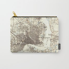 Vintage Map of Jacksonville Florida (1918) Carry-All Pouch