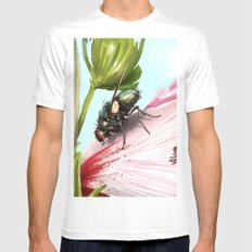Fly on a flower 15 Mens Fitted Tee MEDIUM White