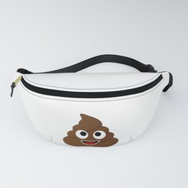 Humor shit poop emoji funny and kawaii character Fanny Pack