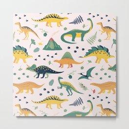 Land of Dinosaurs Metal Print