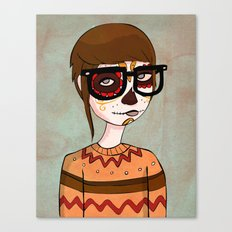 Day of the Dead Hipster Canvas Print