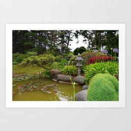 Japanese Garden Lantern Art Print
