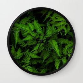 Japanese Ferns Wall Clock