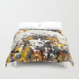 Modern Yellow Native American Indian Chief Duvet Cover