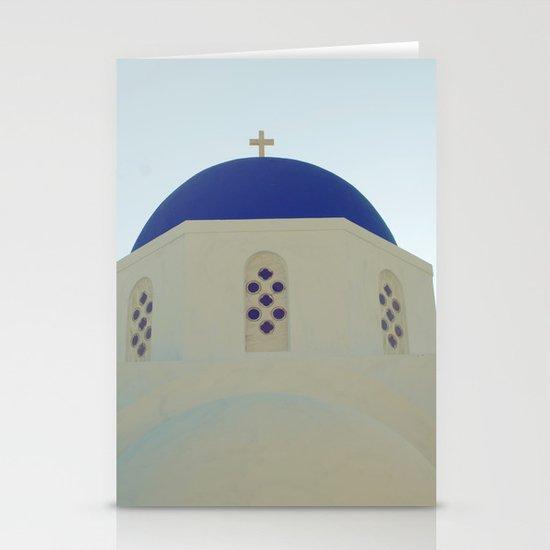 Santorini Churches V Stationery Cards