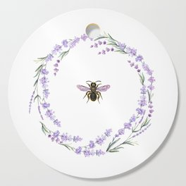 Lavender Bee Cutting Board