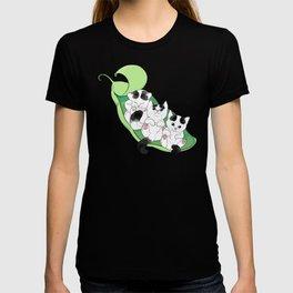 3 Little Kittens in a beautiful pea green boat T-shirt