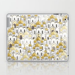 golden Russian cathedral church pattern Laptop & iPad Skin