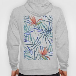 watercolor botanical pattern Hoody