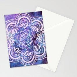 Galaxy Mandala Purple Lavender Blue Stationery Cards