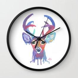 Melting Rainbow Deer Head Wall Clock