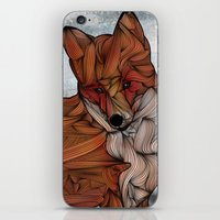 fox iPhone & iPod Skins featuring Red Fox by Ben Geiger