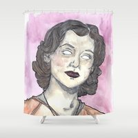 oitnb Shower Curtains featuring Morello OITNB by Ashley Rowe