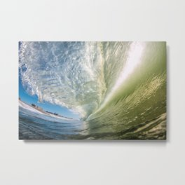 Glassy Green Metal Print