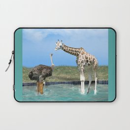 The Ostrich with Galoshes Laptop Sleeve