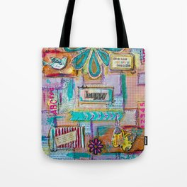 Colorful quilt Tote Bag