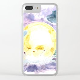 Moon Landing Clear iPhone Case