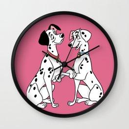 Pongo & Perdita CLR Wall Clock