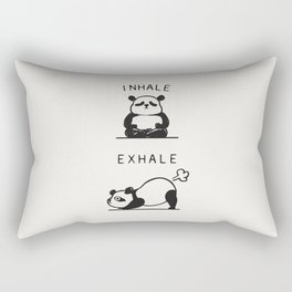 Inhale Exhale Panda Rectangular Pillow