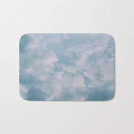 Fluffy Blue Clouds Bath Mat