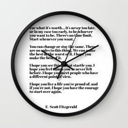 for what it's worth - fitzgerald quotes Wall Clock