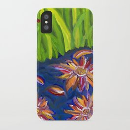 Flowers Float by Ladybug Grass iPhone Case