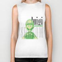 luigi Biker Tanks featuring Luigi by Thomas Official