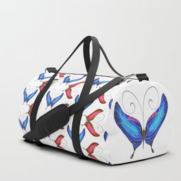 Blue Morpho Butterfly Duffle Bag