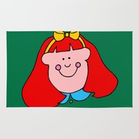 redhead Area & Throw Rugs featuring Redhead Rules by 2cute
