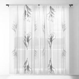 Pleasant Bouquet Sheer Curtain