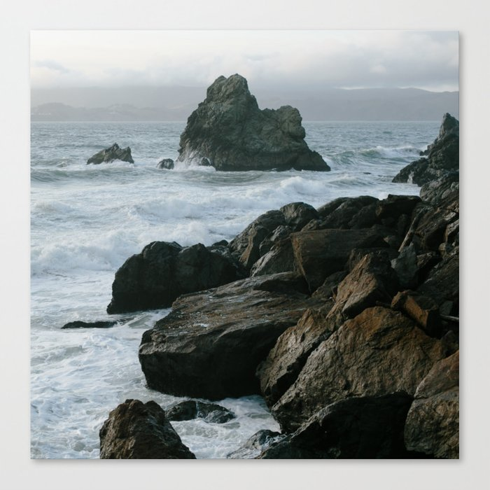 View of San Francisco Bay from Sutro Baths Canvas Print