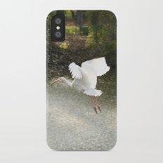 White Ibis on Takeoff Slim Case iPhone X