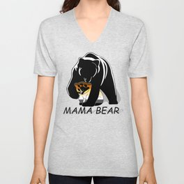 Mama Bear Bear Unisex V-Neck