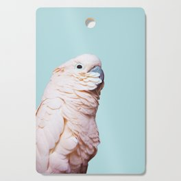 Parrot Photography | Pink Bird |  Tropical | Exotic | Turquoise Art | Blush Pink Cutting Board
