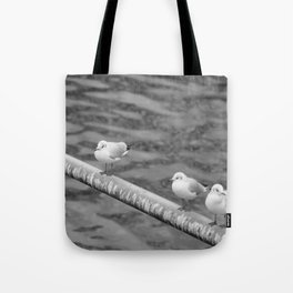 bird in group Tote Bag